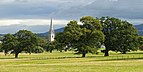 View of the St Margaret of Antioch's Church from the Bodelwyddan Castle. Wales, UK.jpg