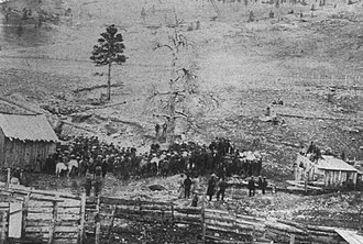 Montana Vigilantes - 1870 vigilante execution of Arthur Compton and Joseph Wilson in Helena, Montana