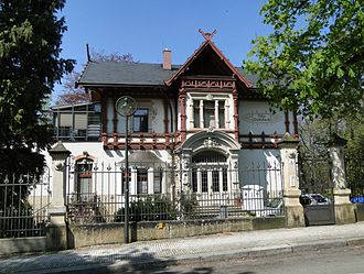 Swiss chalet style - Image: Villa Eschebach Weißer Hirsch Dresden