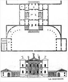 Plan Villa Thiene Palladio