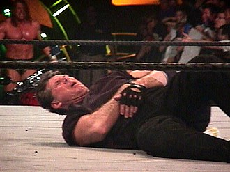 Vince McMahon - McMahon after losing his match at King of the Ring in June 2000