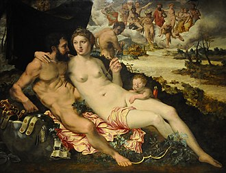 Vincent Sellaer - Mars and Venus Surprised by Vulcan