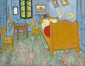 Bedroom in Arles - Second version, September 1889. Oil on canvas, 72 x 90 cm, Art Institute of Chicago