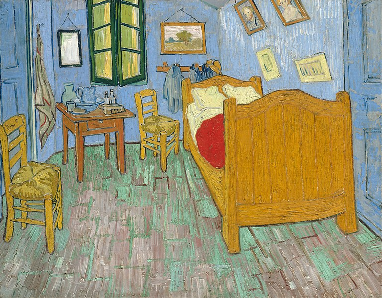 van Gogh, Bedroom in Arles, 2nd