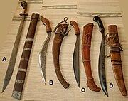 Visayan swords a ginunting b to c talibong