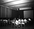 Visitors at orientation program at Visitor Center auditorium. ; ZION Museum and Archives Image ZION 8775 ; ZION 8775 (a1965266a7a24c7db6905eb4c87ccd71).jpg