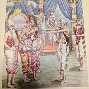 Dasharatha - Sage Vishvamitra came to Dasharatha to send Rama to fight with demons.