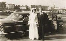 Putin s manželkou ľudmilou v deň sobáša, 28. 7. 1983