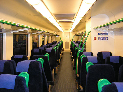 Sprinter train interior, April 2006 (photo by Mcbridematt, via Wikimedia Commons)