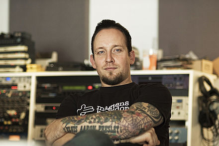 Michael Poulsen, singer, guitarist and main songwriter of Volbeat Volbeat Michael Poulsen 2009.jpg
