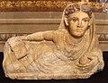 Volterra, coperchio di urna cineraria in alabastro, 100-50 ac. ca. 01.JPG