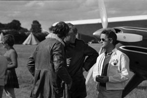 Richard Bach - Richard Bach and Lynn Garrison with Helio Courier G-ARMU used for Von Richthofen and Brown, 1970