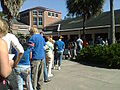 Voters in line Gainesville Florida November 1 2008.jpg