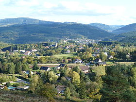Vue du village de Plaine.