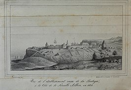 Fort Ross in 1828