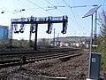 Würzburg - Blick auf Gleise vor dem Hbf, westl..JPG