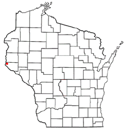 Location of Clifton, Wisconsin