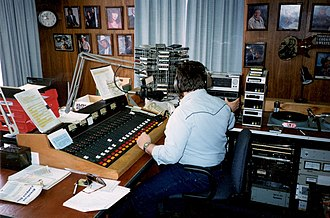 Radio personality - A radio personality (Randy J. Allum) at work at WKZV in Washington, Pennsylvania in 1997