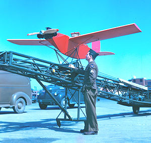 Radioplane Company - Over 9,400 of the slightly modified OQ-3 were produced.