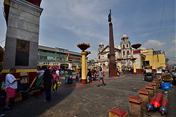 Considered the center of Quiapo, Plaza Miranda is surrounded by several shopping buildings and its most famous landmark, the Quiapo Church