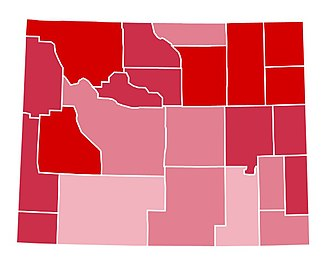 1988 United States presidential election in Wyoming - Image: WY1988