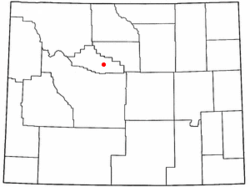 Location of Thermopolis, Wyoming