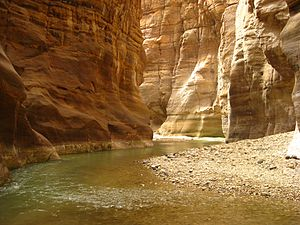 Wadi Mujib - Inside the canyon