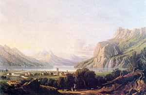 Walenstadt - Walenstadt in 1800