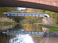 Walsall Canal - Wednesbury - Willingsworth Hall Bridge - Moorcroft Junction Foot and Pipe Bridge (38545576001).jpg