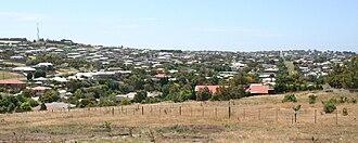 Wandana Heights, Victoria - Looking north to Wandana Heights from Pigdons Road, Highton