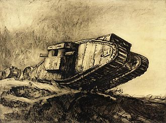 Muirhead Bone - Tanks (1918), Art.IWM REPRO 0006847