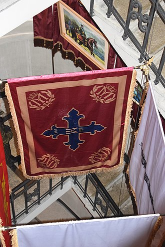 """Order of Michael the Brave - A 1941 war flag of the Knights of the Military Order """"Mihai Viteazu"""" (Romania)"""