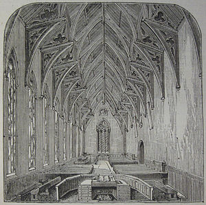 Victoria College, Jersey - The Great Hall originally accommodated simultaneous classes under the supervision of a master