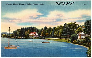 Back Mountain, Pennsylvania - Postcard of Harveys Lake (early 20th century)