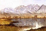Wasatch Mountains, Utah oil Albert Bierstadt.jpg