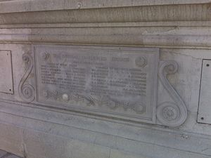 Washington Boulevard (Los Angeles) - Plaque on Washington Blvd. Bridge over Los Angeles River in East L.A.