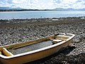 Water-filled boat on the beach - geograph.org.uk - 525533.jpg