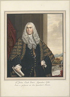 Sir John Cust, 3rd Baronet British politician