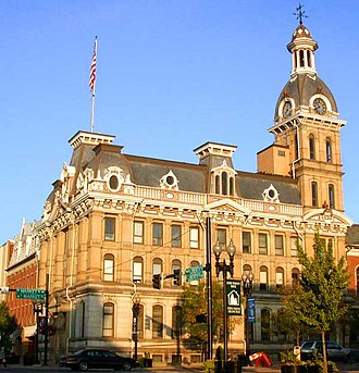 Wooster, Ohio - Wayne County courthouse in downtown Wooster