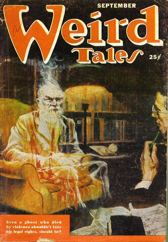 "Isaac Asimov - The novelette ""Legal Rites"", a collaboration with Frederik Pohl, the only Asimov story to appear in Weird Tales"