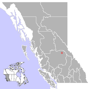 Wells, British Columbia - Image: Wells, British Columbia Location