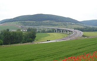 Bundesautobahn 71 - Image: Werratal 120605