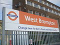 West Brompton stn Overground signage.JPG