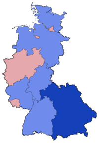 West German Federal Election - Party list vote results by state - 1987.png