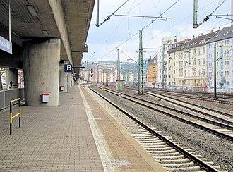 Frankfurt West station - Platform for S6 city-bound services