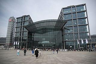 the main railway station of Berlin