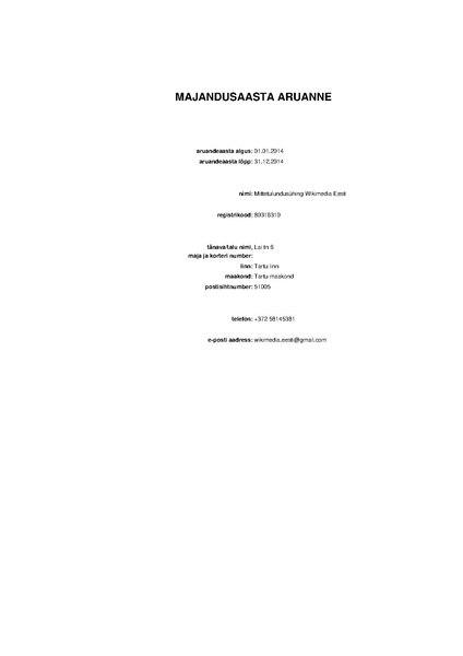 File:Wikimedia Eesti financial statement 2014 (Estonian).pdf