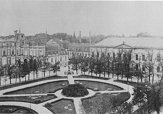 Wilhelmplatz - Wilhelmplatz in the early 1900s with the Ordenspalais on the right, Reich Chancellery on the centre, and Palais Pless to the left