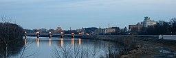 Wilkes-Barre med Susquehannafloden