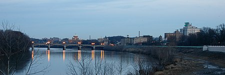 The Susquehanna River and Wilkes-Barre City Wilkes-Barre with Susquehanna River.jpg